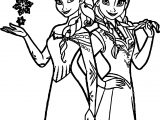 Anna Elsa Together Now Coloring Page
