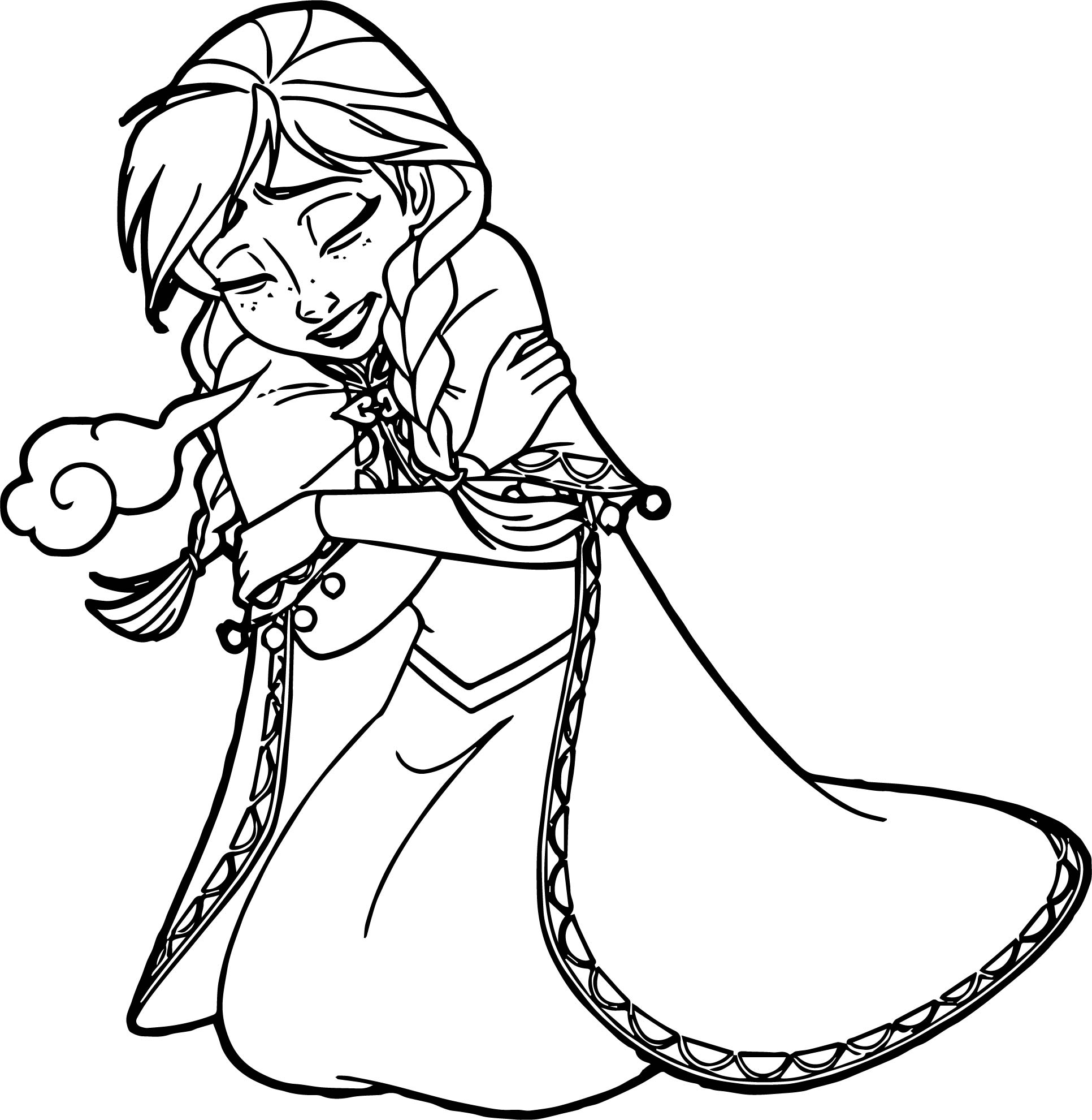 Anna Freezing Coloring Page