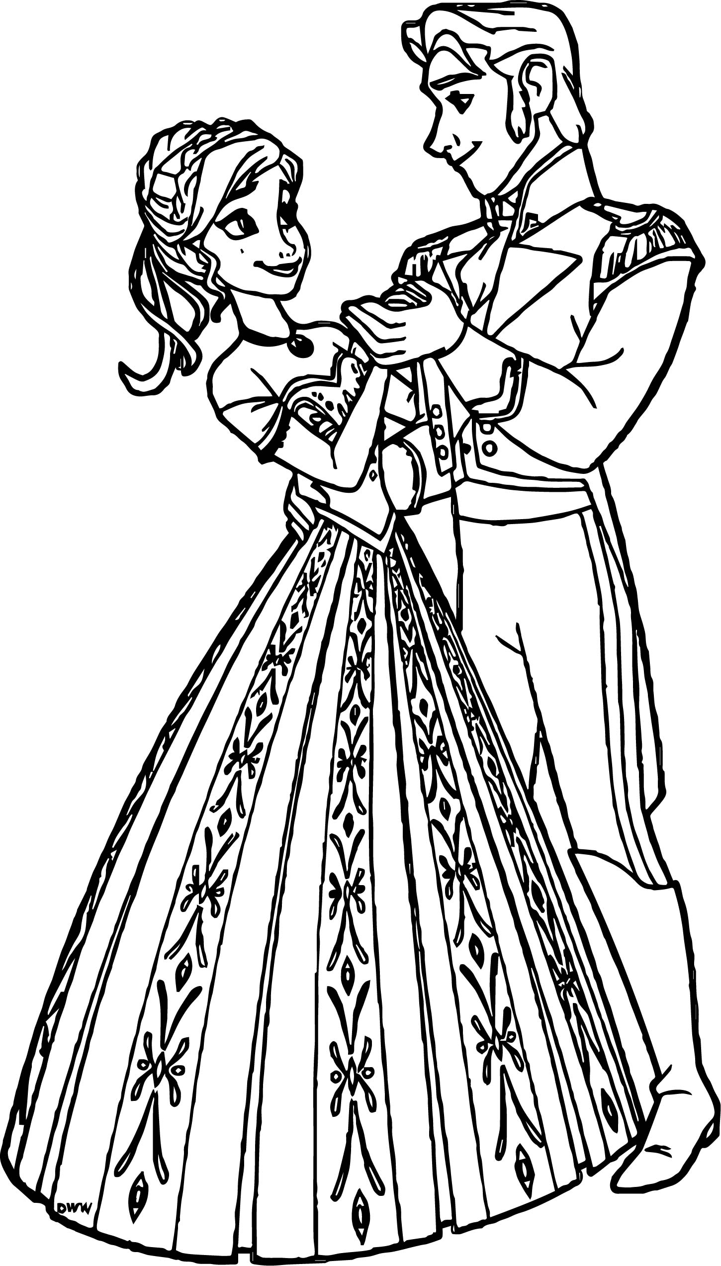 Anna Hans Dancing Coloring Page