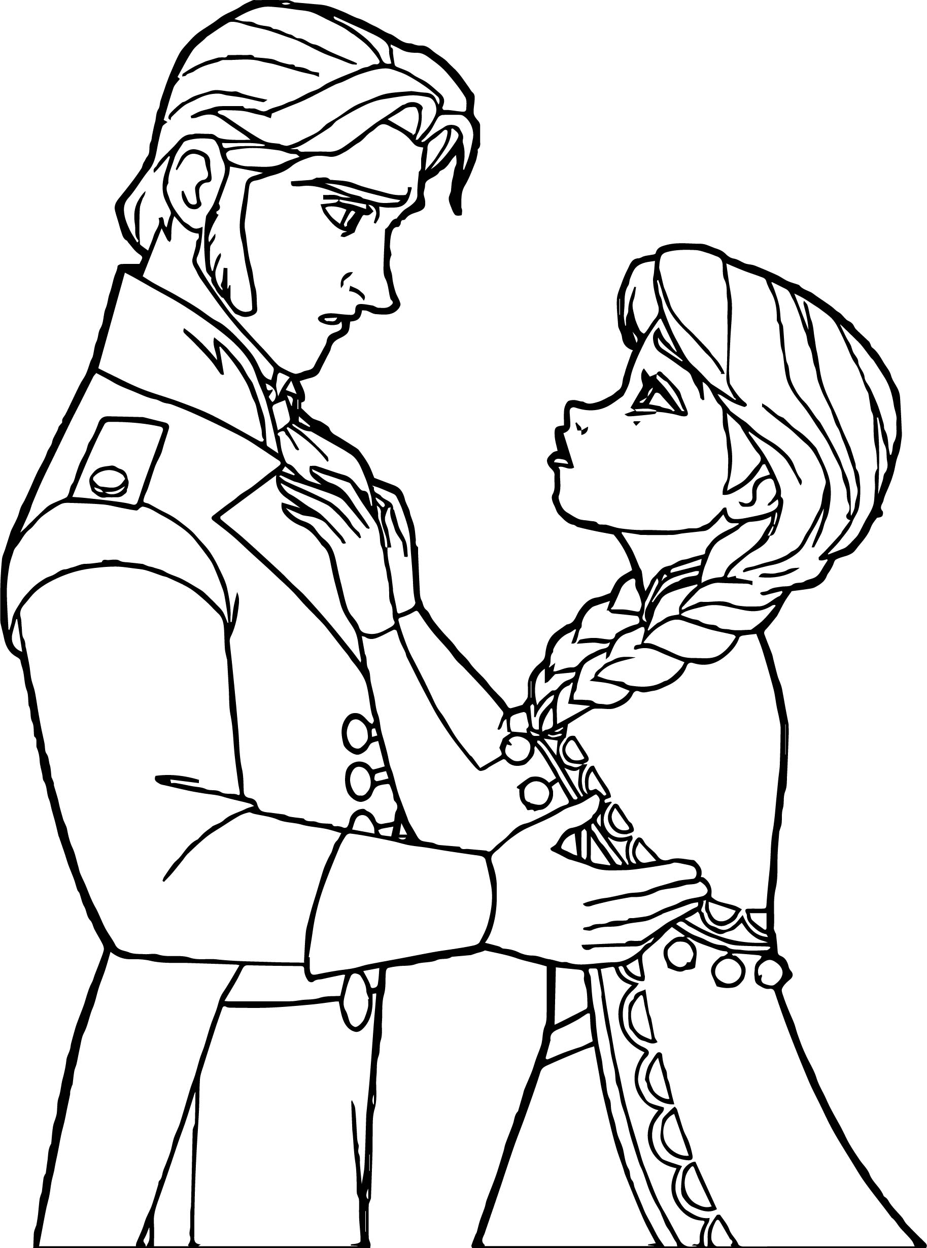 Anna Hans Talking Coloring Page