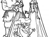 Anna Kristoff Elsa Olaf Coloring Page