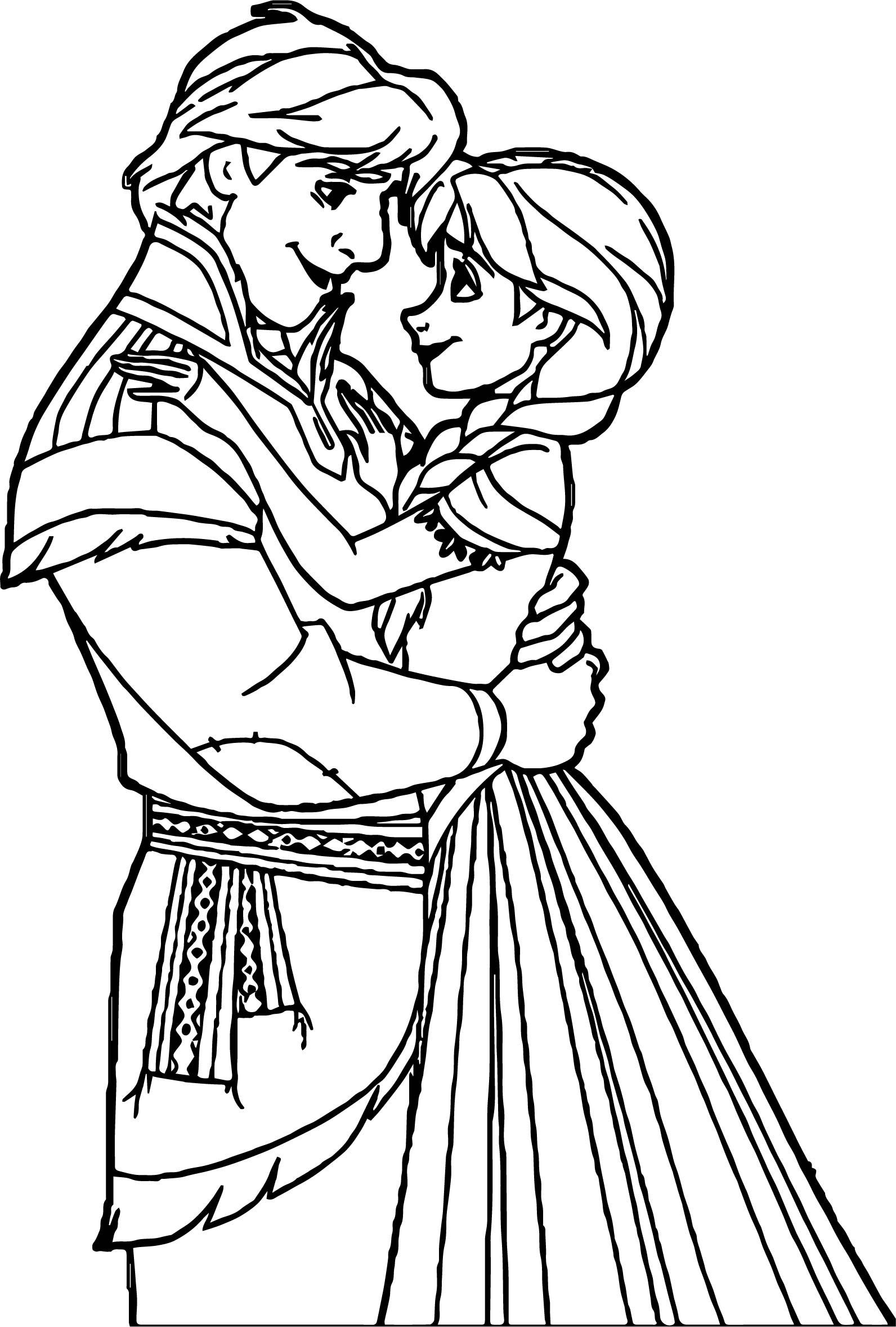 Anna Kristoff Talking Coloring Page