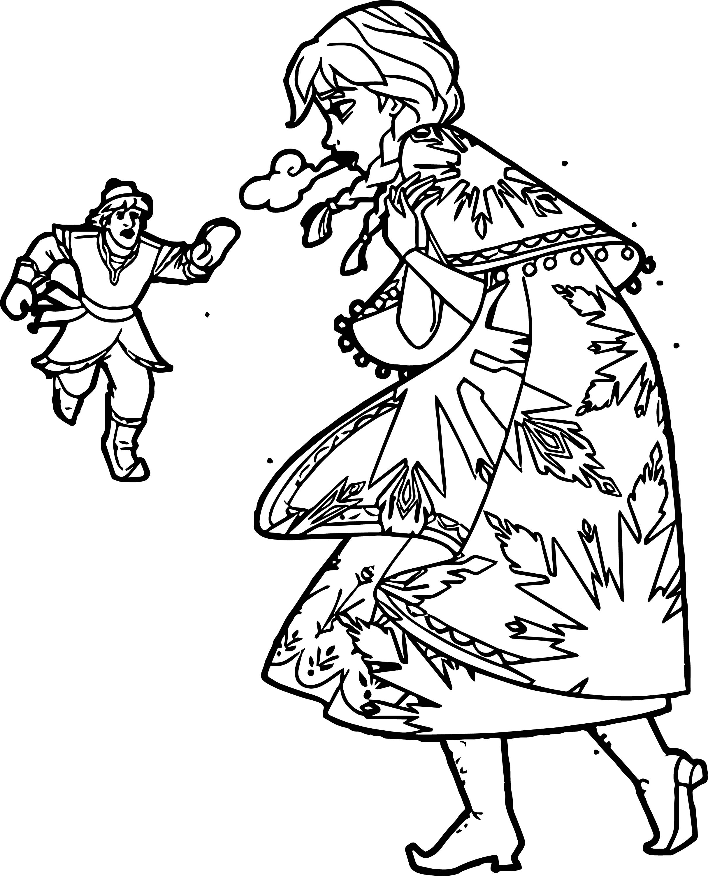 Anna Kristoff Wait Coloring Page