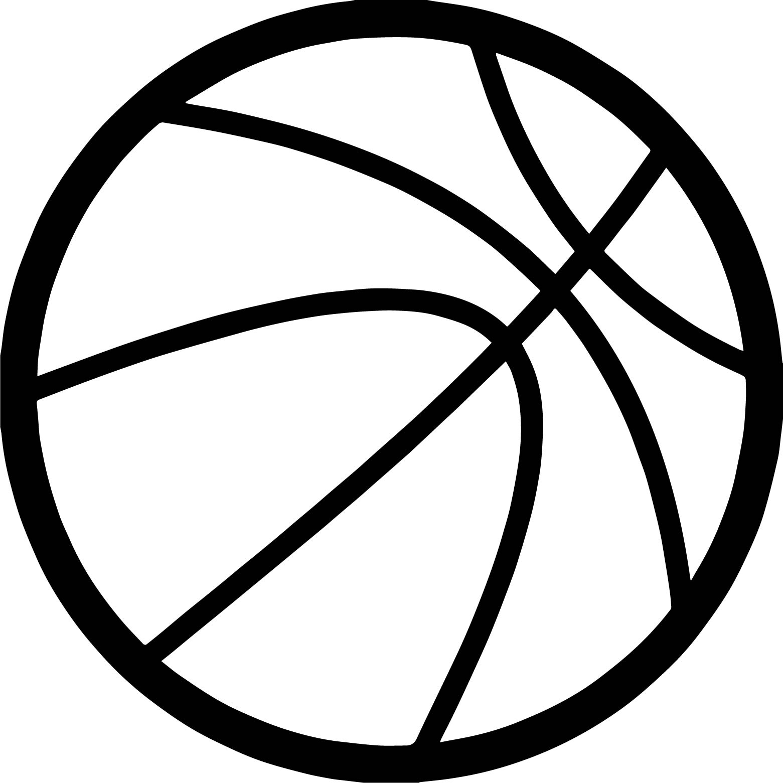 Any Basketball Ball Coloring Page