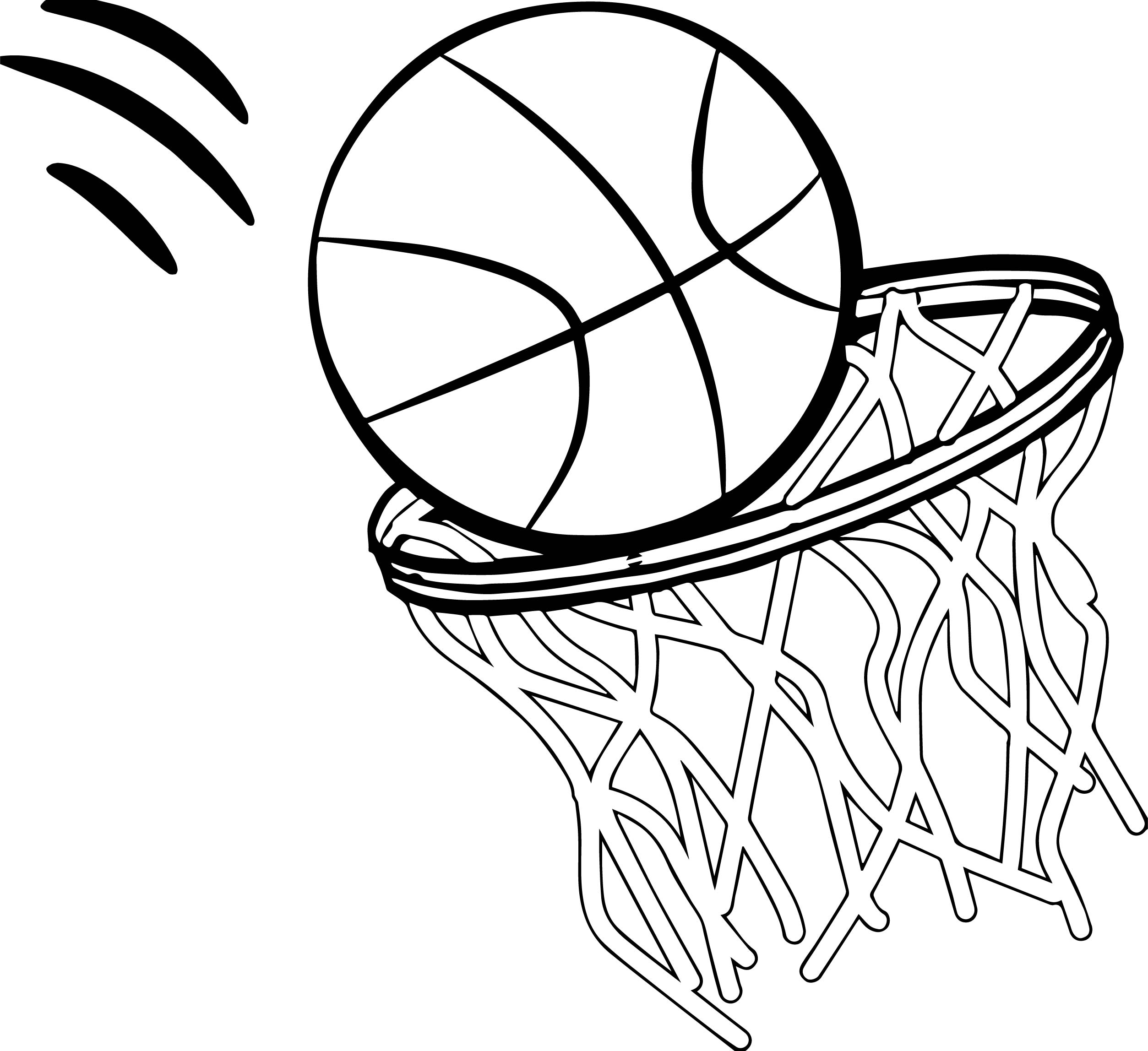 Any Basketball Free Coloring Page