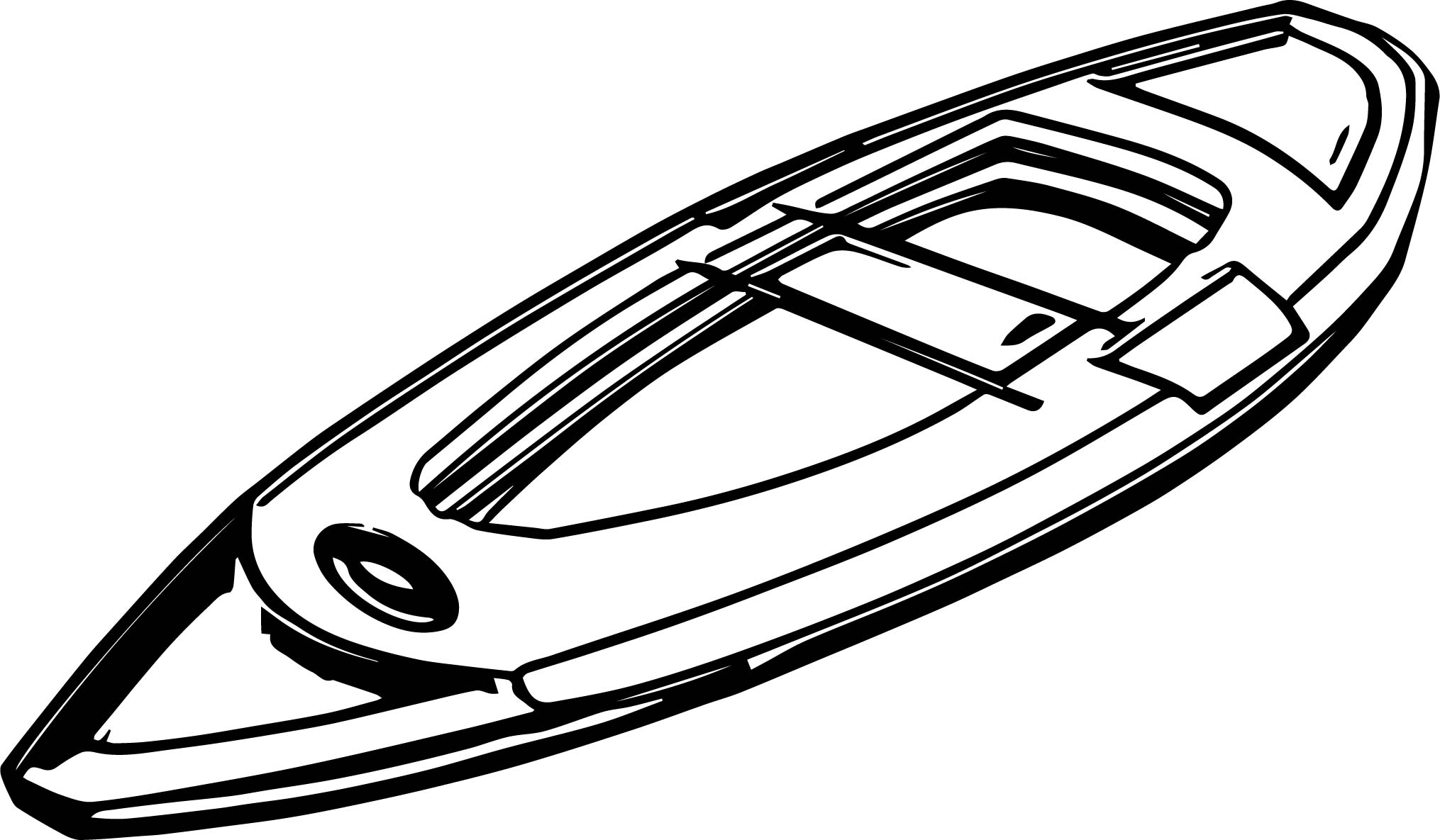 Any Canoe Coloring Page