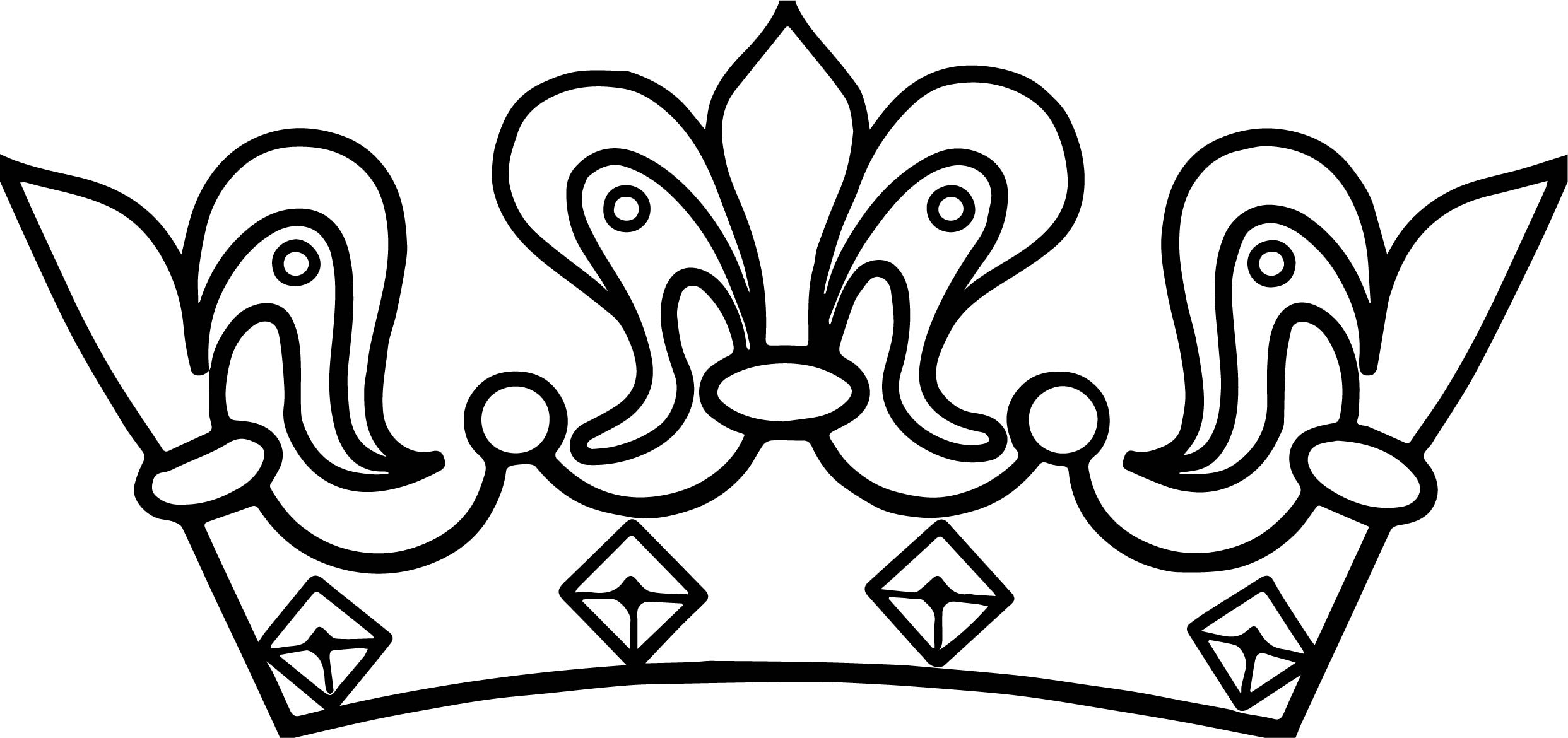 Any Crown Images Coloring Page