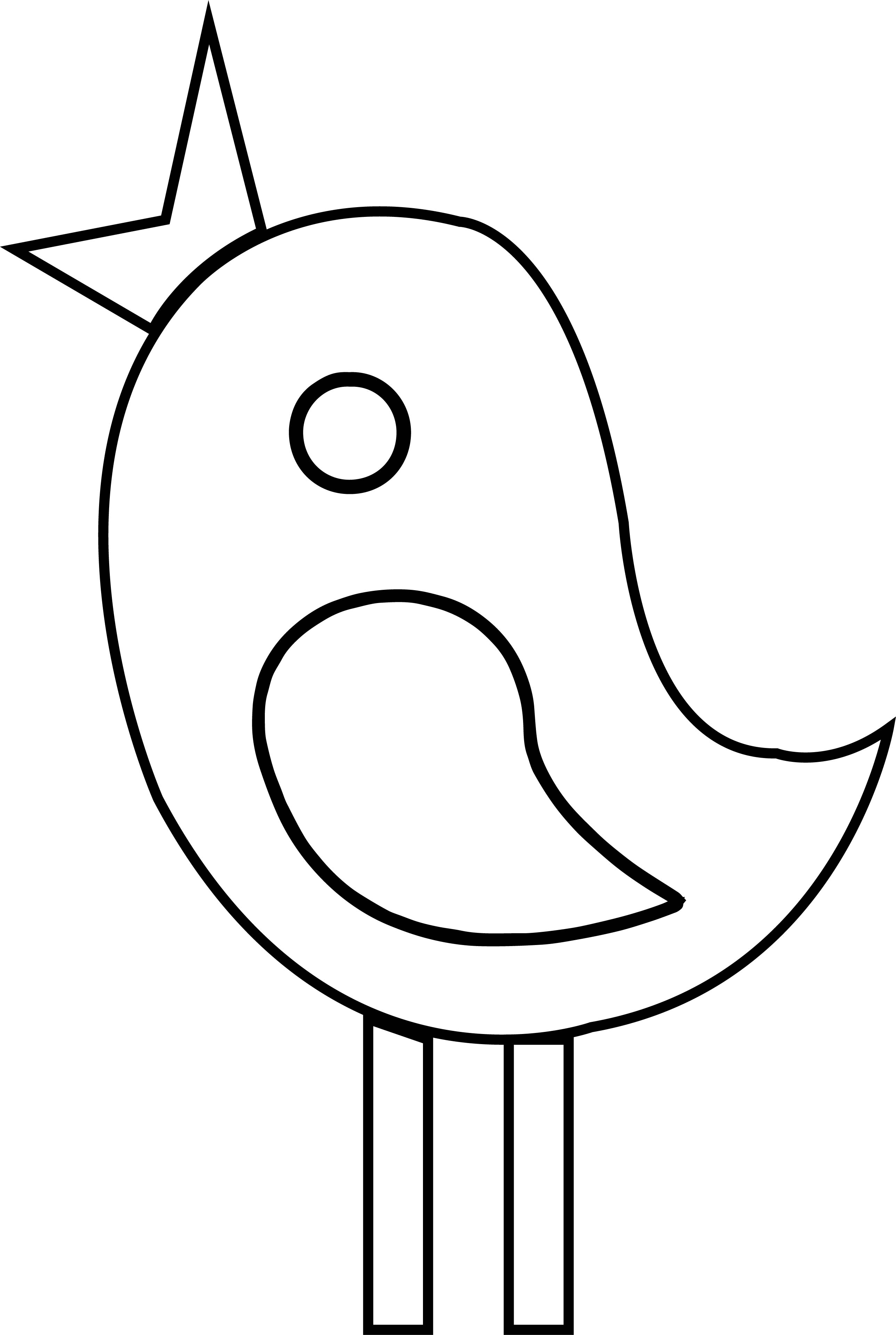 Any Cute Basic Bird Coloring Page