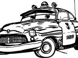Any Disney Cars Sheriff Coloring Page