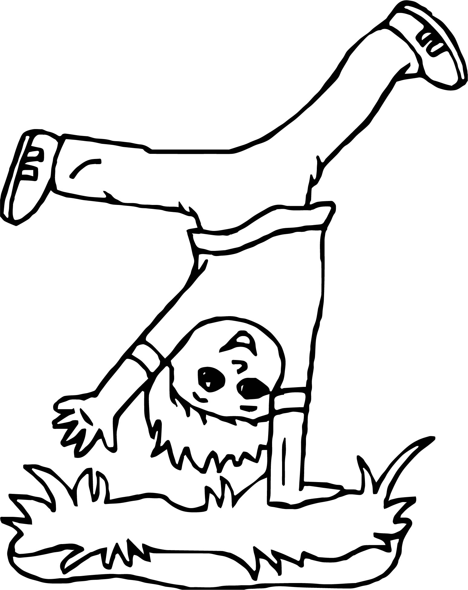 Any Doing Cartwheels Coloring Page