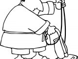 Any Fat Man Housework Coloring Page