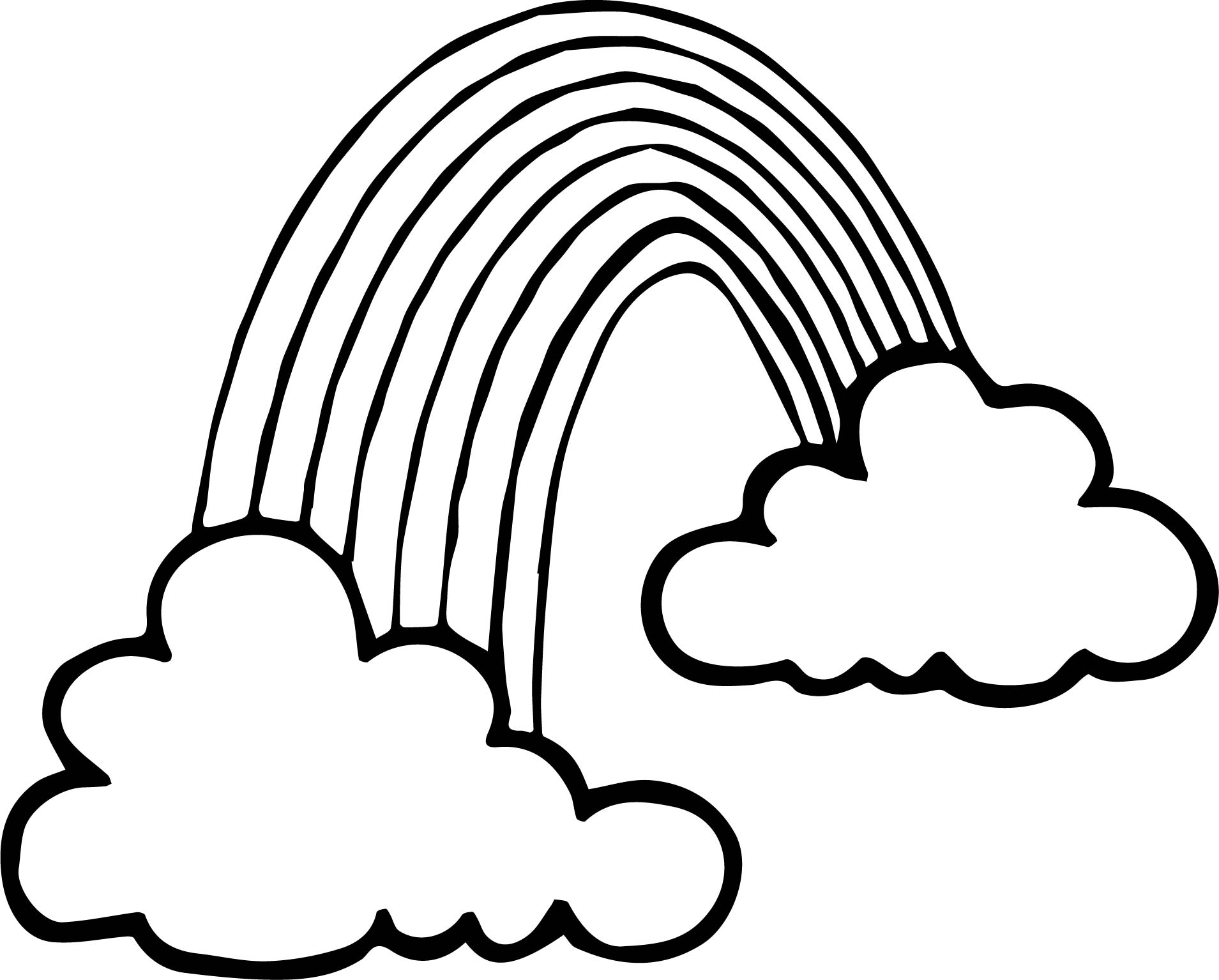 Any Free Rainbow Images Coloring Page