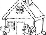 Any Gingerbreadhouse Coloring Page