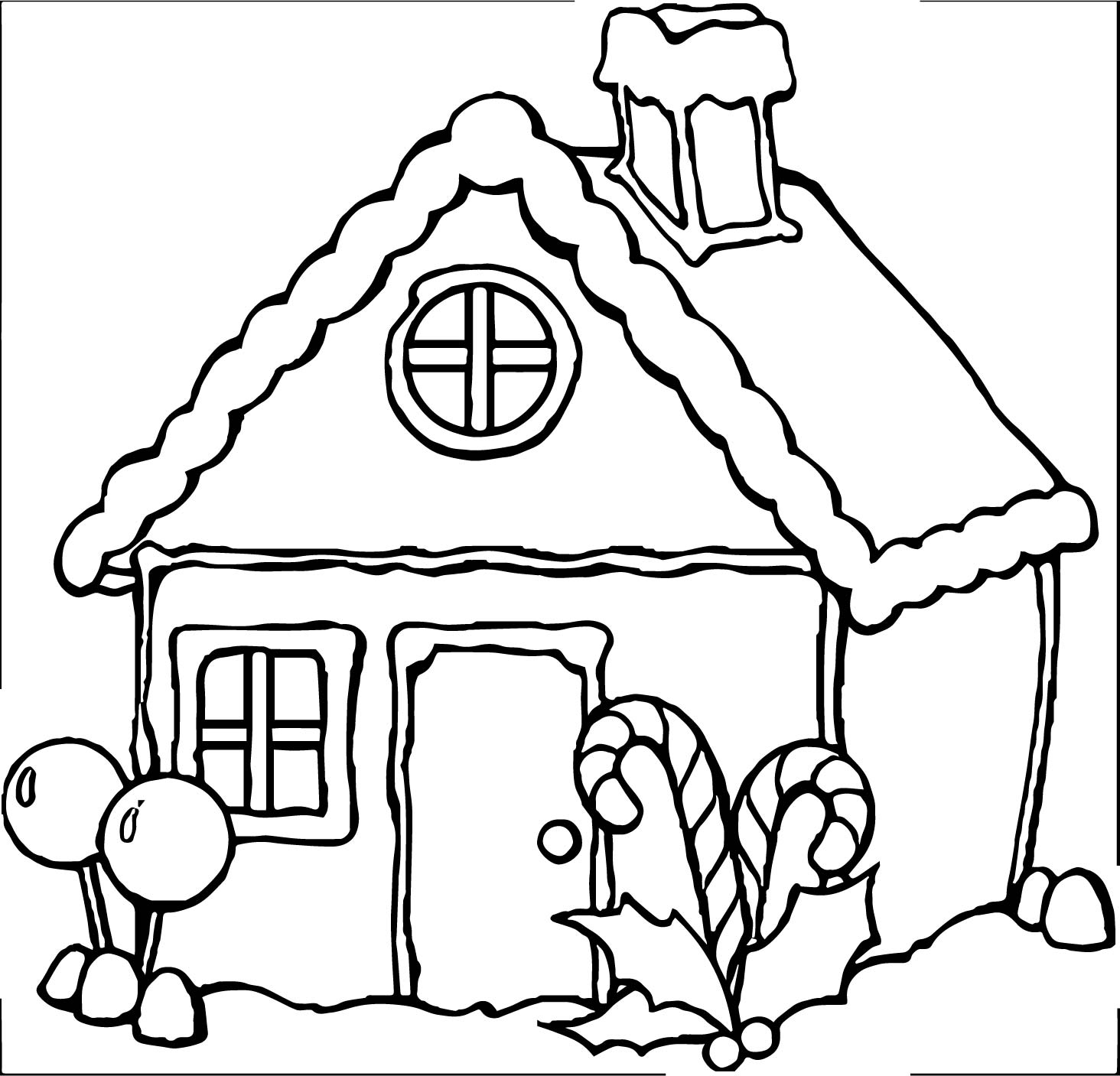 Any gingerbreadhouse coloring page for Gingerbread house coloring pages