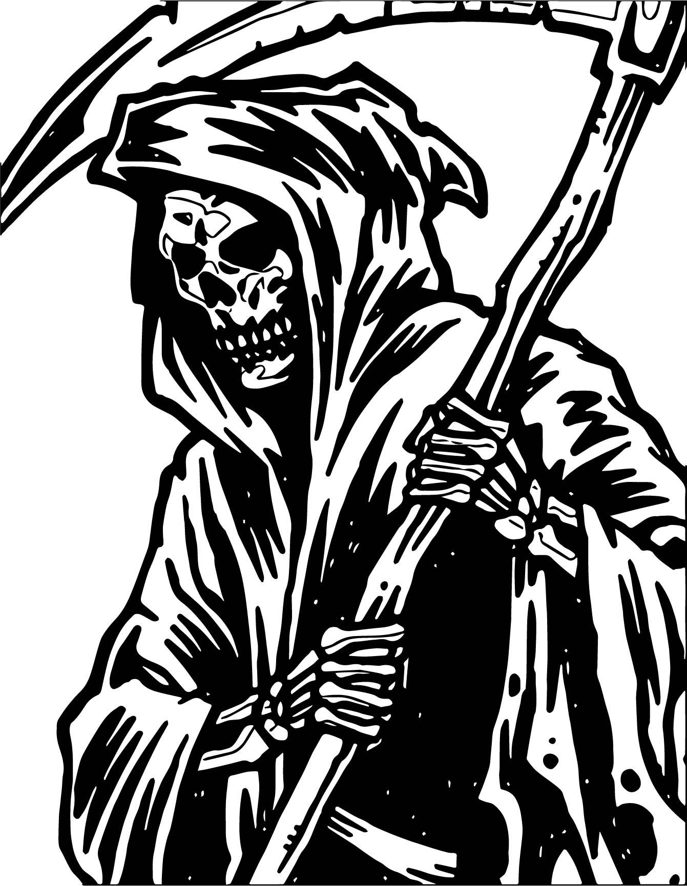 Any Grim Reaper Coloring Page