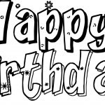 Any Happy Birthday Text Coloring Page