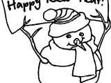 Any Happy New Year Snowman Coloring Page
