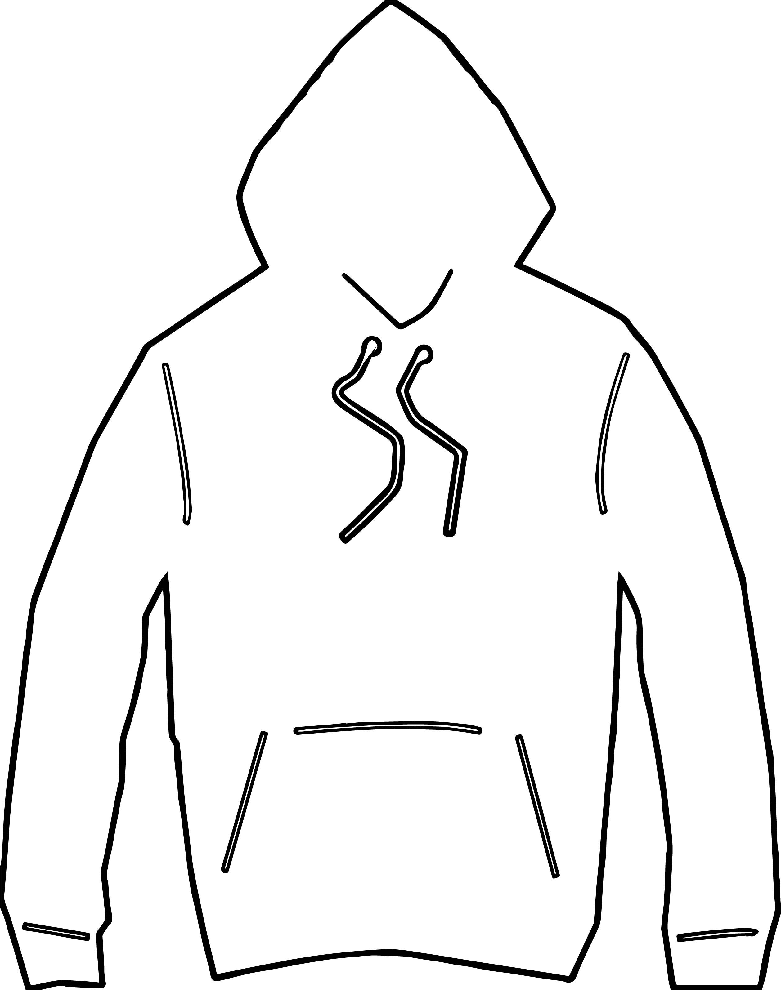 Any Hooded Jacket Coloring Page | Wecoloringpage