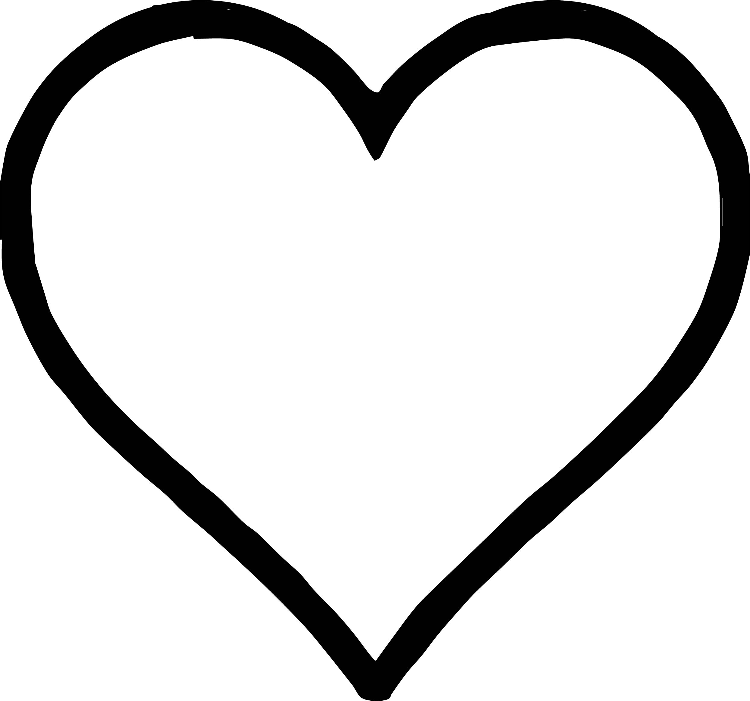 Heart Coloring Pages Any Images Heart Coloring Page  Wecoloringpage