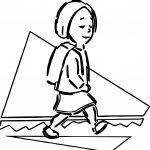Any Kid With Backpack Coloring Page