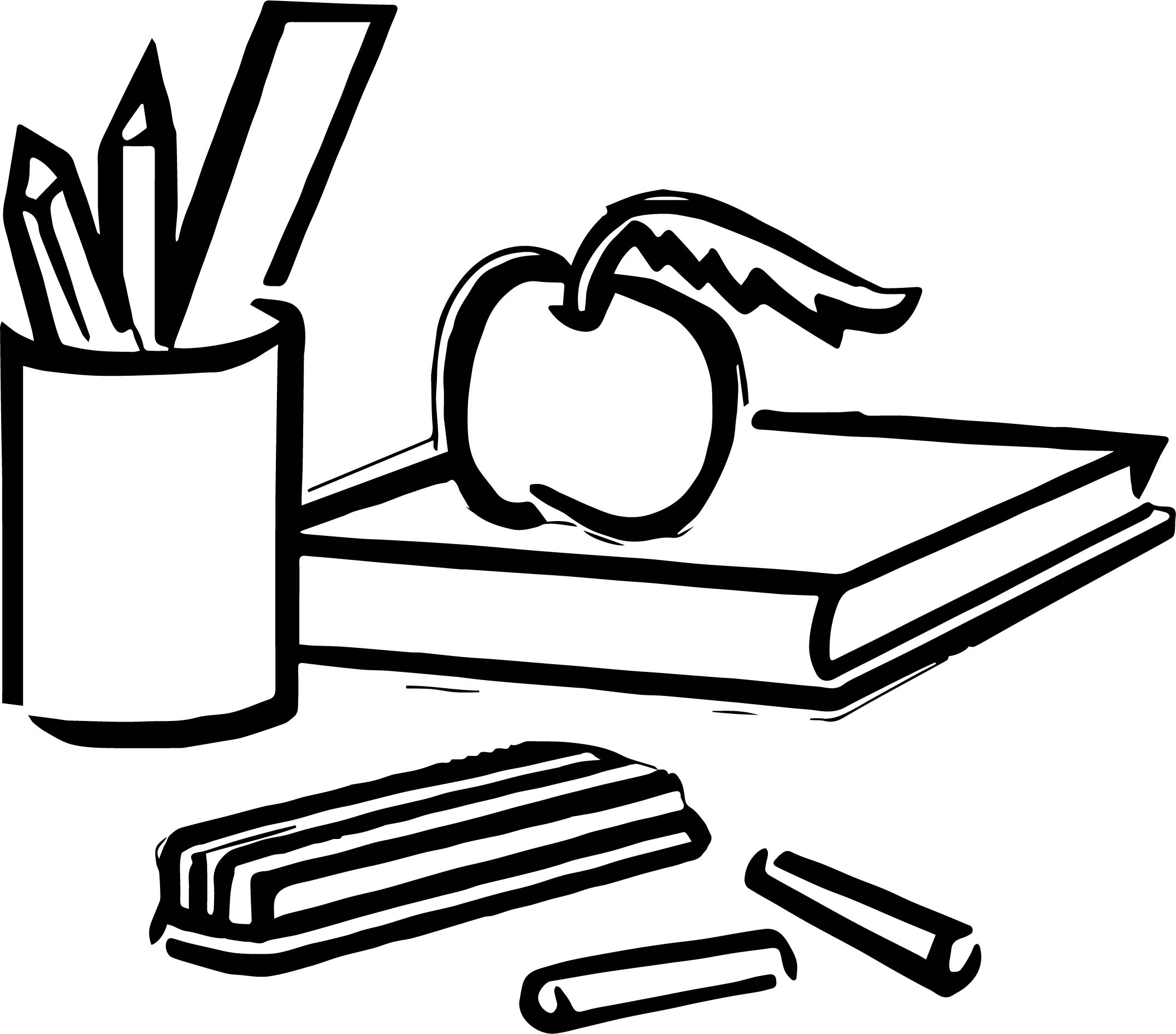 Any Misc School Objects Coloring Page