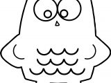 Any Pink Square Owl Coloring Page
