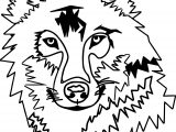 Any Wolf Face Coloring Page