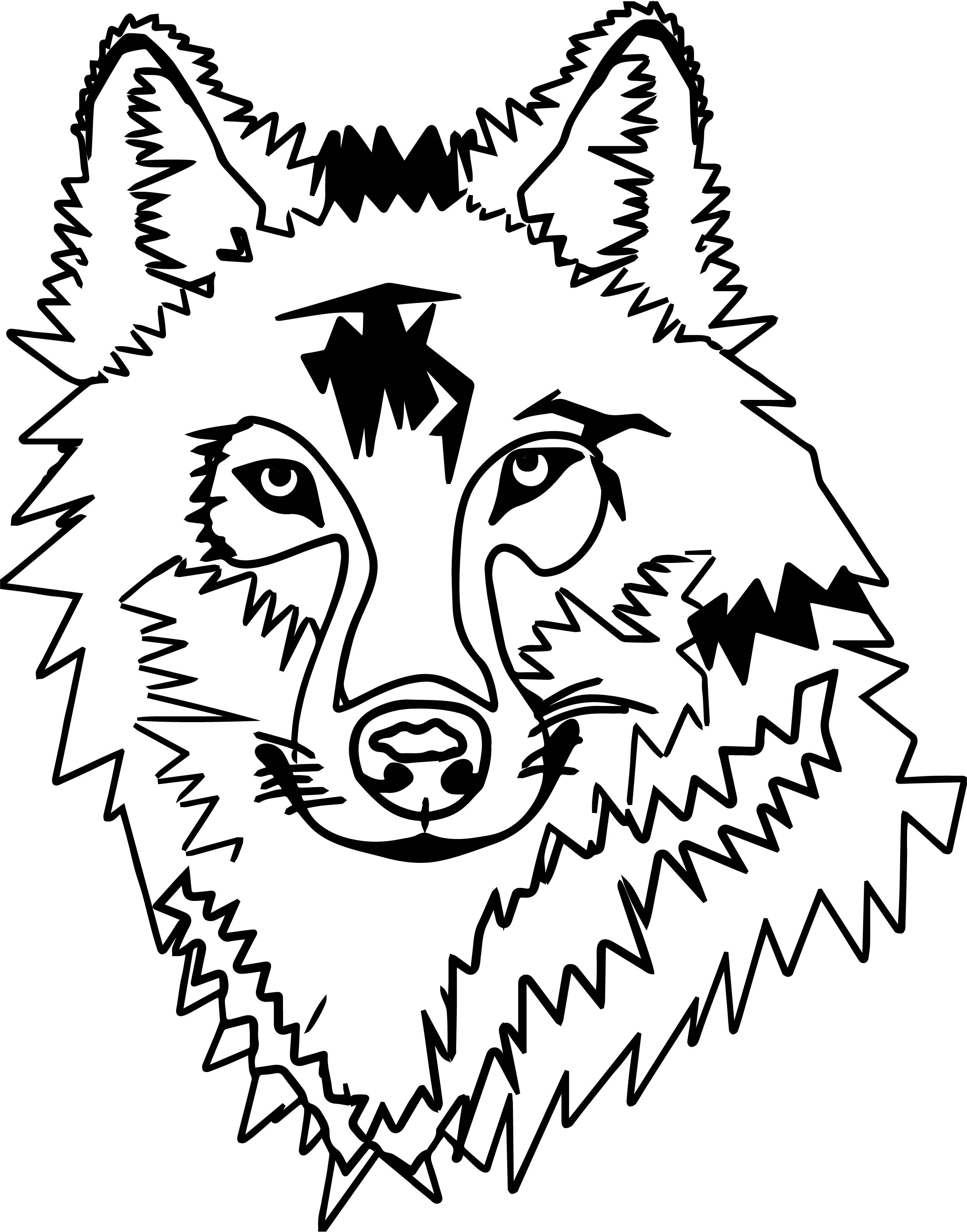 Any wolf face coloring page for Wolf face coloring pages