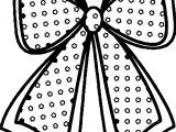 Any Xmas Bow Coloring Page