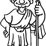 Apostle Paul Man Coloring Page