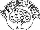 Apple Tree Text And Tree Coloring Page