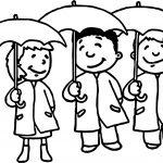 April Shower Kids Coloring Page