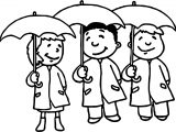 April Shower Kids Coloring Page