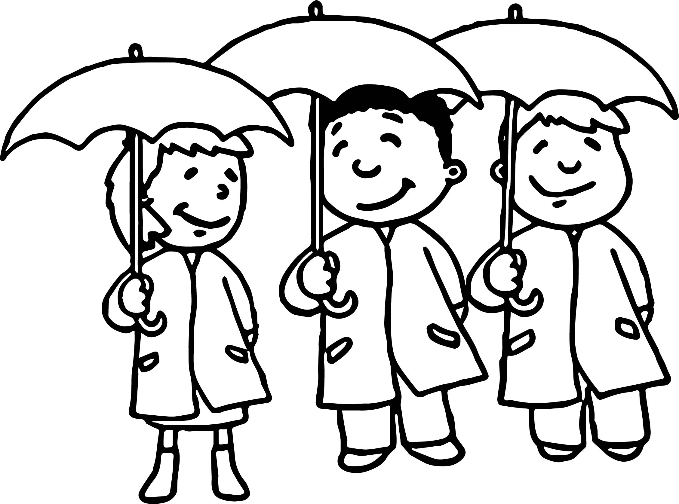 April Shower Kids Coloring Page Wecoloringpage