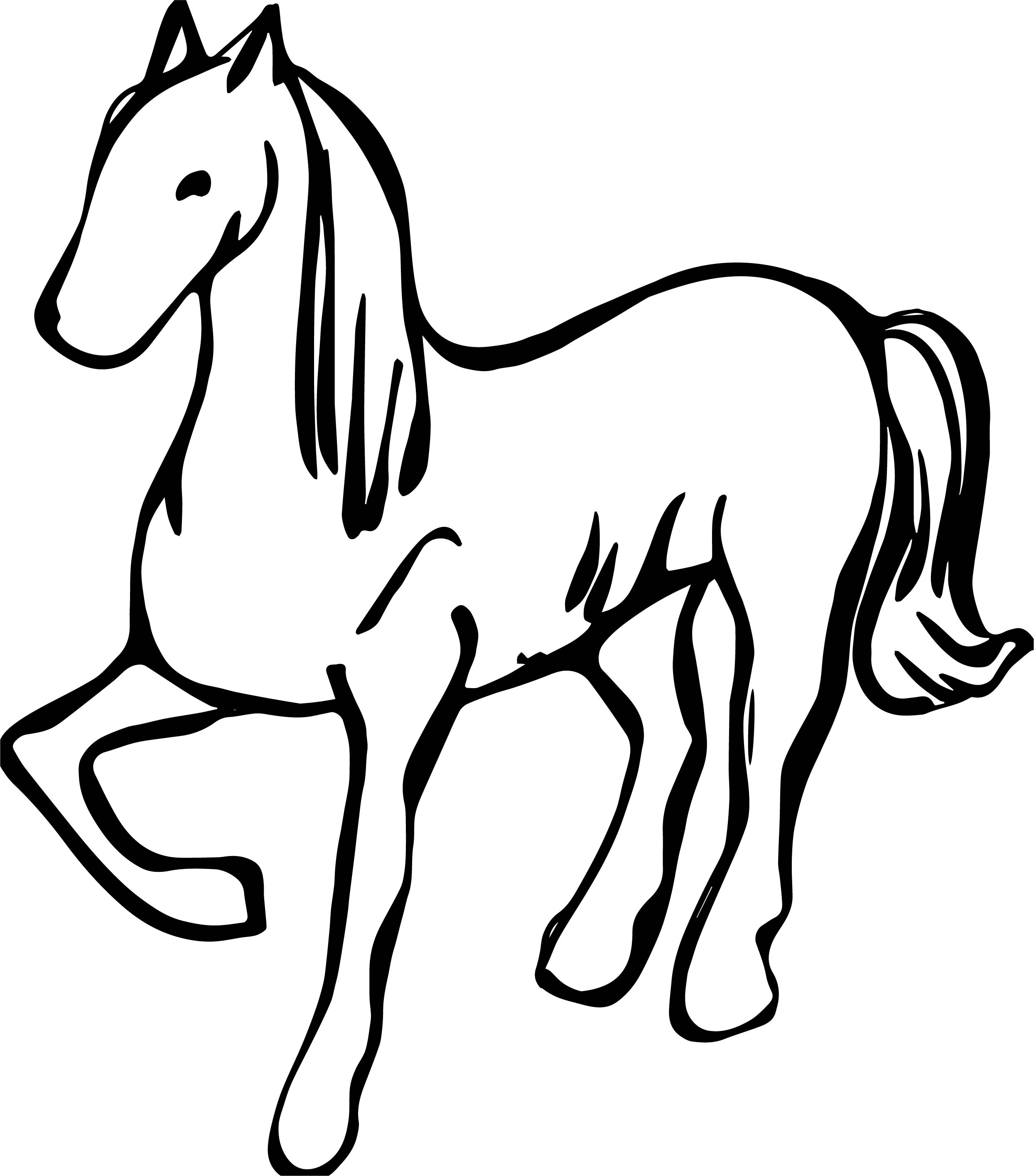 arabian horse coloring pages - arabian horse silhouette coloring page