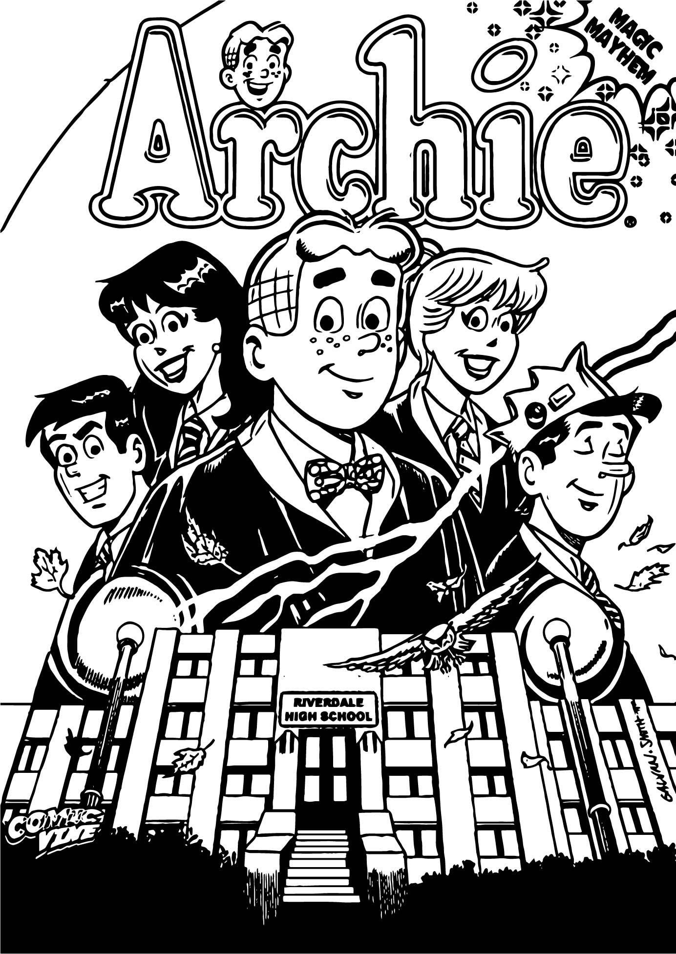 Archie Comics Magic Myhem Coloring Page