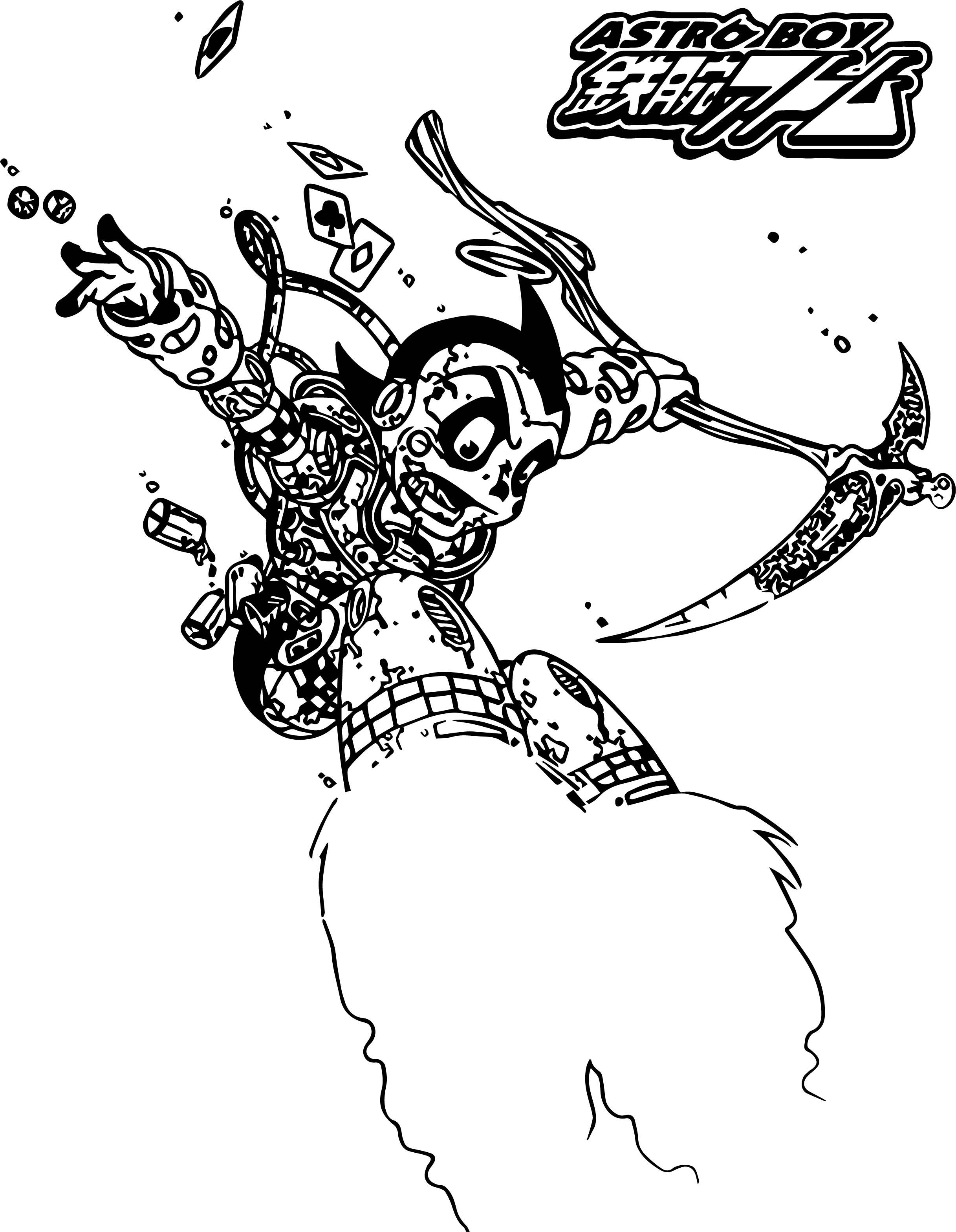 Astroboy Crazy Robot Coloring Page