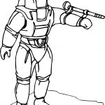 Astronaut Fire Coloring Page