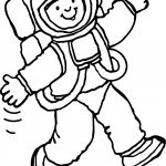 Astronaut Going To Moon Coloring Page