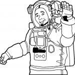 Astronaut Man Hi Coloring Page
