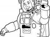Astronaut Man Hi Coloring Page
