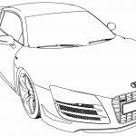 Audi R8 Gt Car Coloring Page