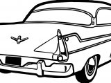 Back Side Vintage Antique Car Coloring Page