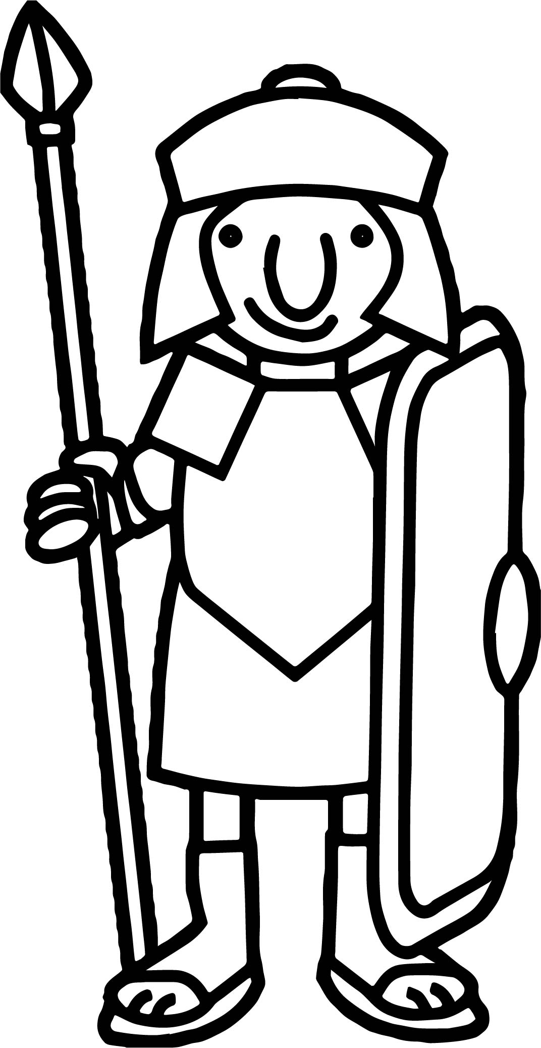 Basic Roman Soldier Coloring Page