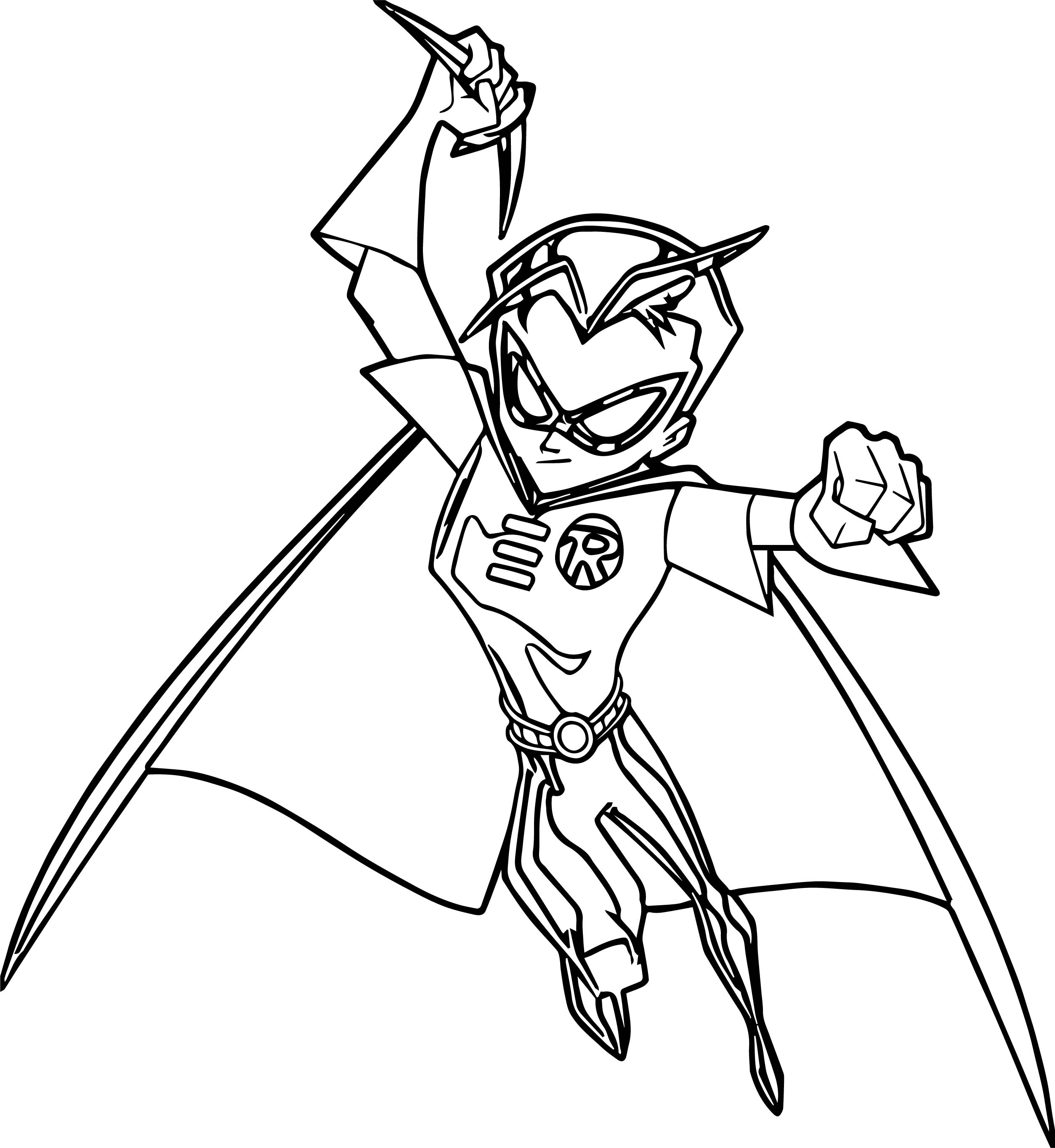 batman amp robin coloring page wecoloringpage - Robin Coloring Pages