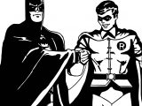 Batman And Robin Cartoon Kick Hand Coloring Page