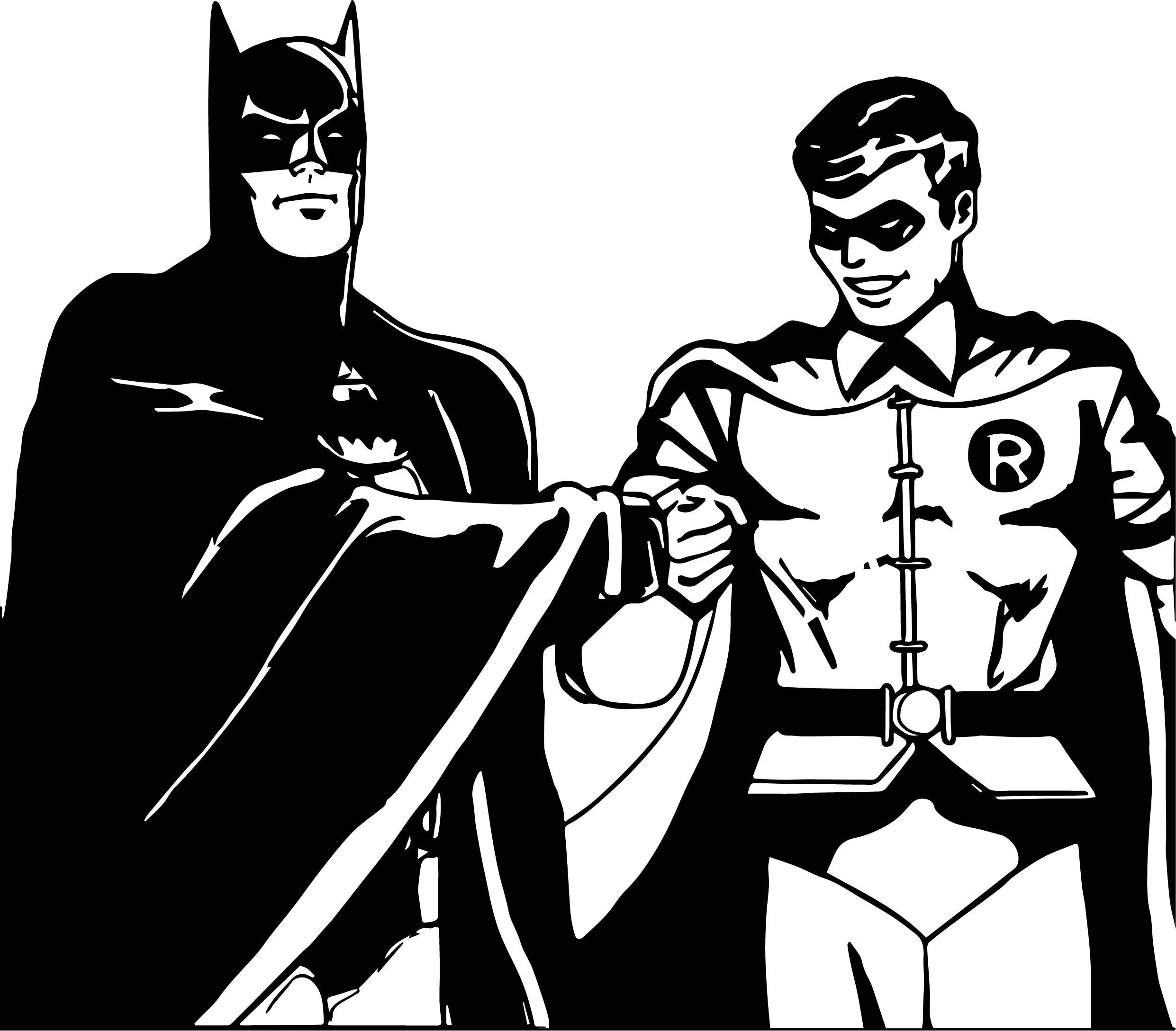 batman and robin cartoon kick hand coloring page - Batman And Robin Coloring Pages