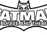 Batman Brave Cartoon Character Logo Coloring Page
