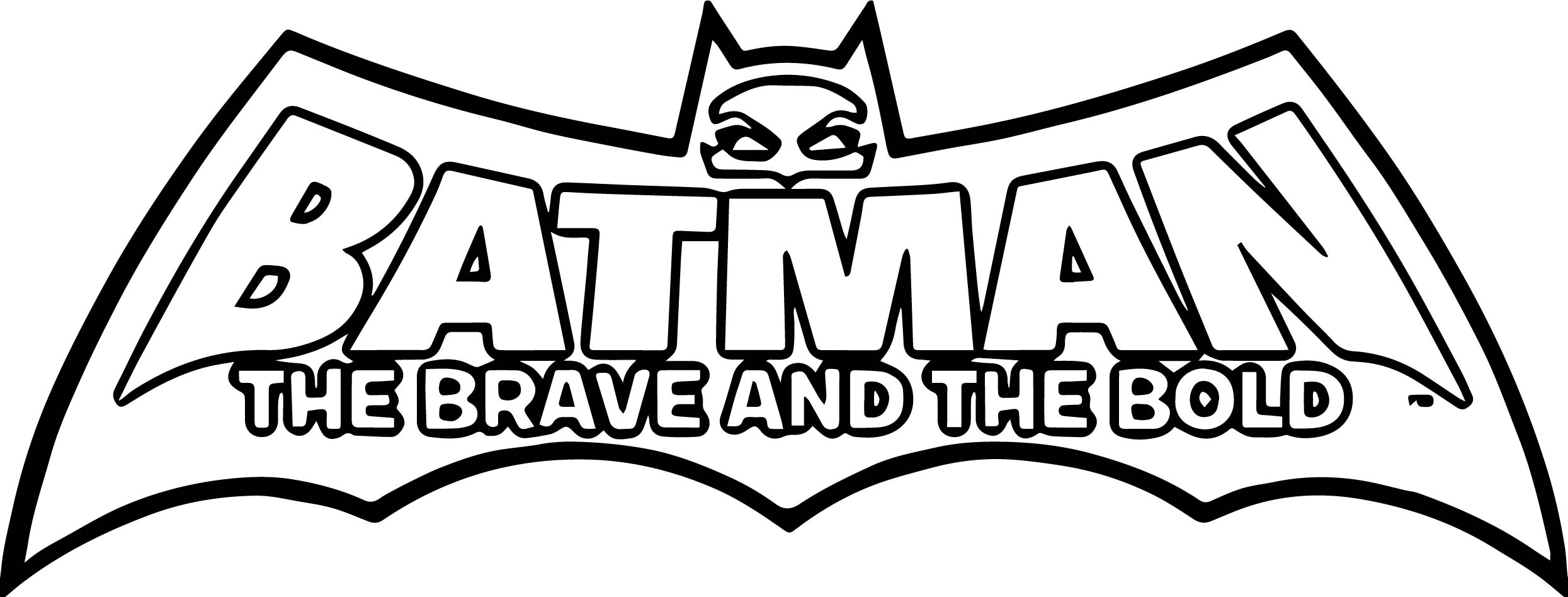 Batman Brave Cartoon Character Logo Coloring Page