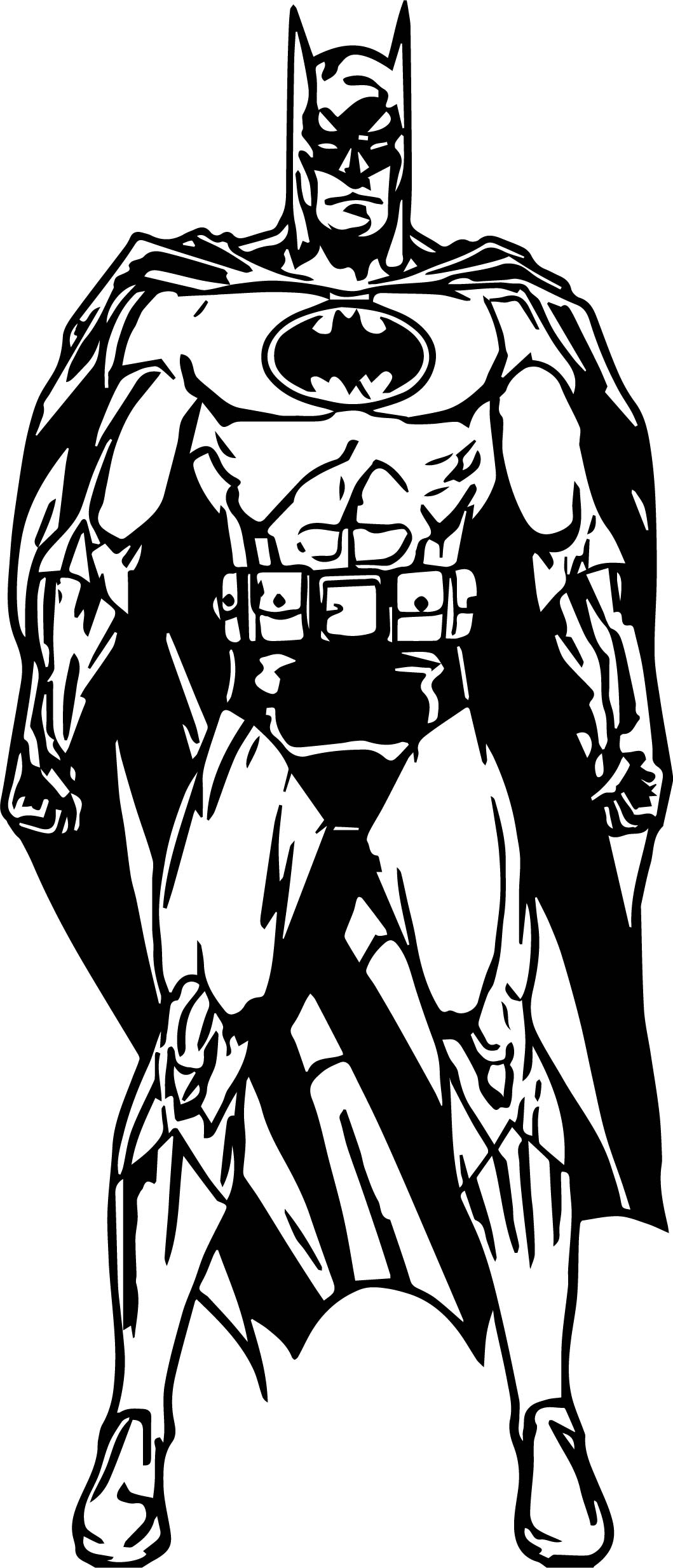 Batman Cartoon Style Coloring Page